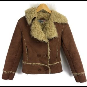 Forever 21 Women S Tan Faux Suede Jacket